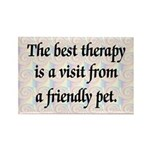 Best Therapy is a Visit Rectangle Magnet (100 pack