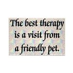 Best Therapy Is A Visit Rectangle Magnet
