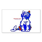Funny Hello Meoow Sticker (Rectangle)