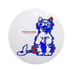 Funny Hello Meoow Ornament (Round)