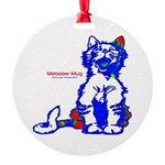 Funny Hello Meoow Round Ornament