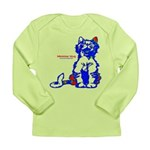 Funny Hello Meoow Long Sleeve Infant T-Shirt