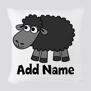 Add Name - Farm Animals Woven Throw Pillow