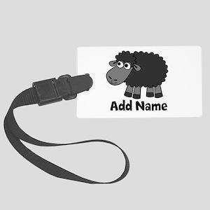 Add Name - Farm Animals Large Luggage Tag