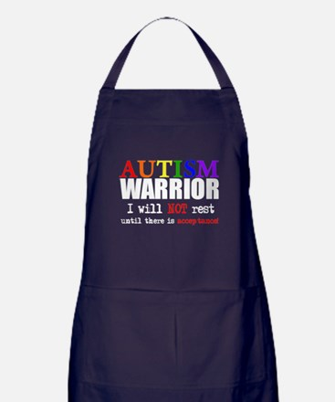 Autism Warrior Apron (dark)