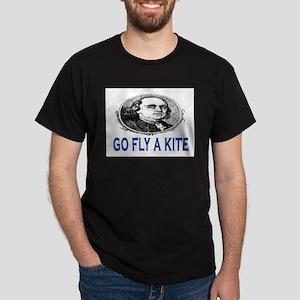 GO FLY A KITE - BEN FRANKLIN Dark T-Shirt