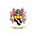 Clemmensen Sticker (Rectangle 50 pk)