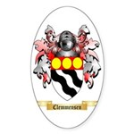 Clemmensen Sticker (Oval 50 pk)