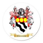 Clemmens Round Car Magnet