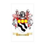 Clemmens Sticker (Rectangle 50 pk)