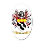 Clemm 35x21 Oval Wall Decal