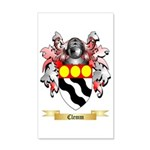 Clemm 35x21 Wall Decal