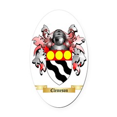 Clemeson Oval Car Magnet