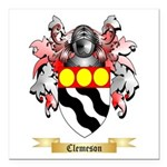 Clemeson Square Car Magnet 3