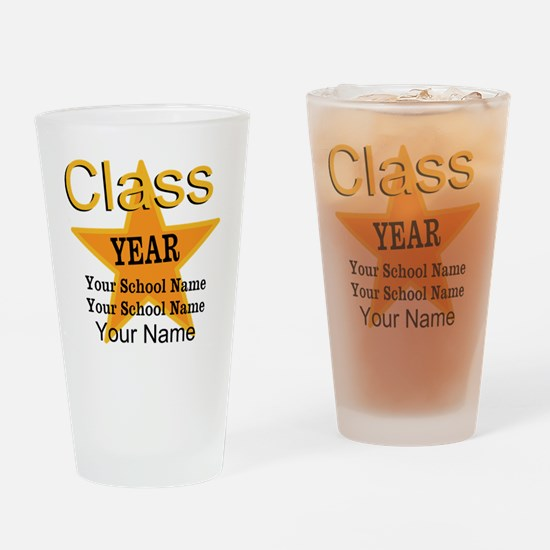 Custom Graduation Drinking Glass
