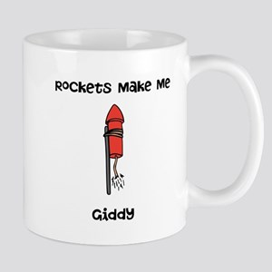 Rockets Make Me Giddy Mug