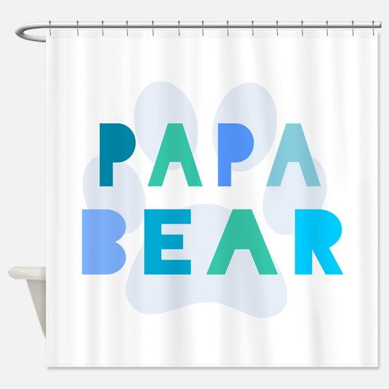 Papa bear Shower Curtain