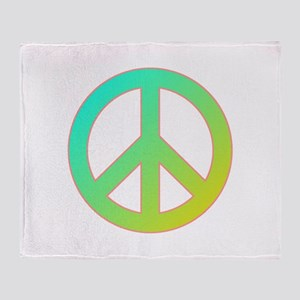 Tropical Peace Sign Throw Blanket
