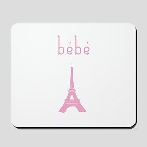 Bebe Girl Eiffel Tower Mousepad