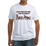 Bear Arms Second Amendment Parody Fitted T-Shirt