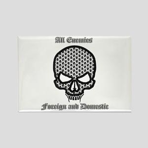 All Enemies Skull Rectangle Magnet