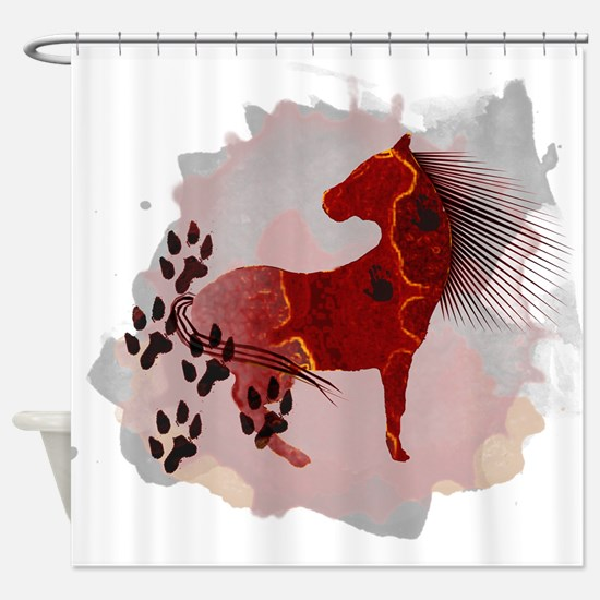 The Indian Pony Shower Curtain