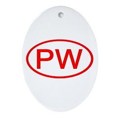 PW Oval - Palau Oval Ornament