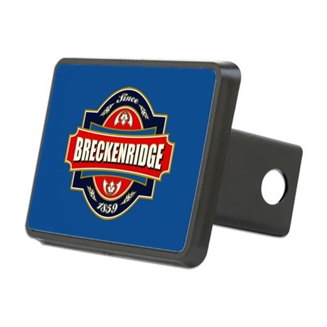 Breckenridge Old Label Rectangular Hitch Cover