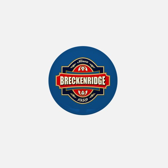 Breckenridge Old Label Mini Button