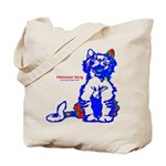 Funny Hello Meoow Tote Bag