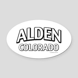 Alden Colorado Oval Car Magnet