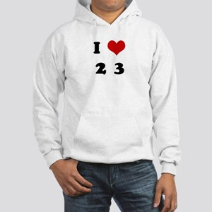 I Love 2 3 Hooded Sweatshirt