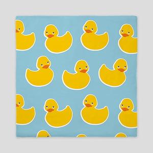 Cute Ducky Pattern Queen Duvet