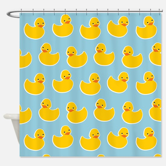Cute Ducky Pattern Shower Curtain
