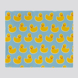 Cute Ducky Pattern Throw Blanket