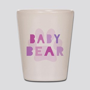 Baby bear - baby girl Shot Glass