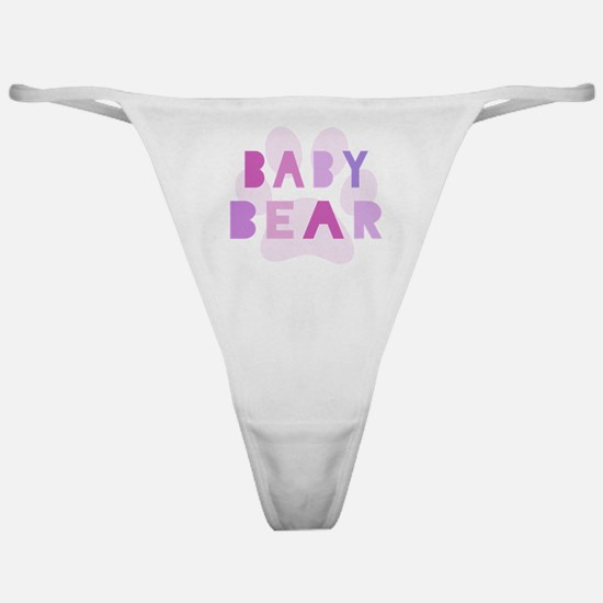 Baby bear - baby girl Classic Thong
