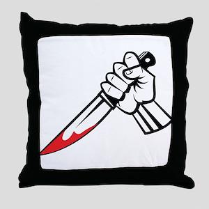 Murder Throw Pillow