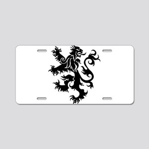 Heraldry Lion Aluminum License Plate