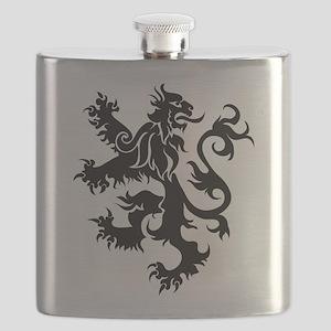 Heraldry Lion Flask