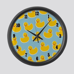 Cute Ducky Pattern Large Wall Clock