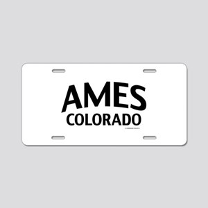 Ames Colorado Aluminum License Plate