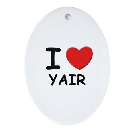 I love Yair Oval Ornament