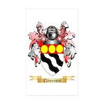 Clemensen Sticker (Rectangle 50 pk)