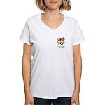 Clemengon Women's V-Neck T-Shirt