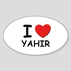 I love Yahir Oval Sticker