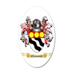 Clemencet 20x12 Oval Wall Decal