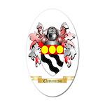 Clemencesu 35x21 Oval Wall Decal