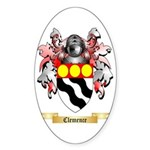 Clemence Sticker (Oval 50 pk)