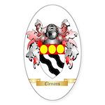 Clemans Sticker (Oval 50 pk)